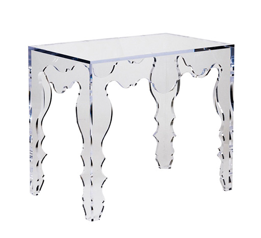 Pleasing Console Table In Acrylic Rococo Tara Shaw Design Antiques Custom Maison Spiritservingveterans Wood Chair Design Ideas Spiritservingveteransorg