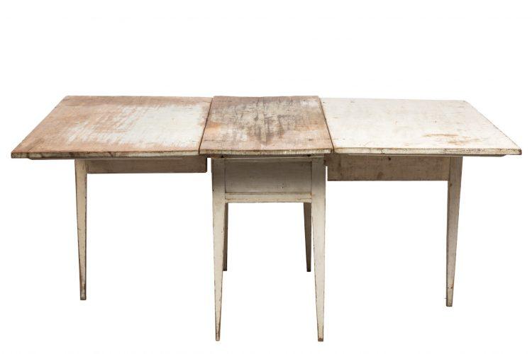 18c Swedish Grey/Blue Patina Drop-Leaf Table