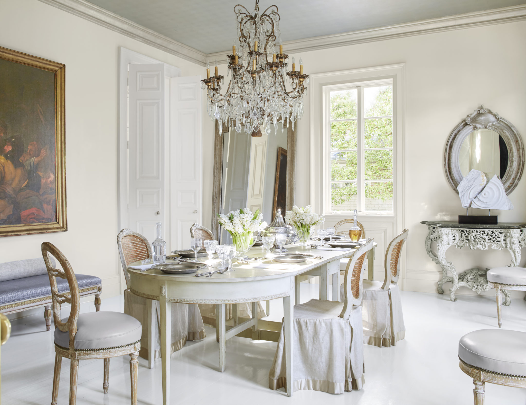 Chic White Dining Rooms