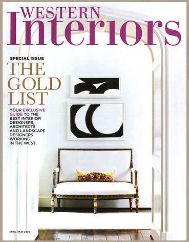 WESTERN INTERIORS MAGAZINE  APRIL MAY 2009