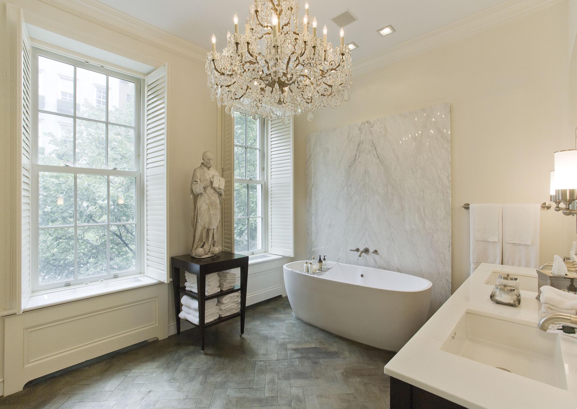 Tara shaw interior design bathroom new york brown stone for Tara louise interior decoration design