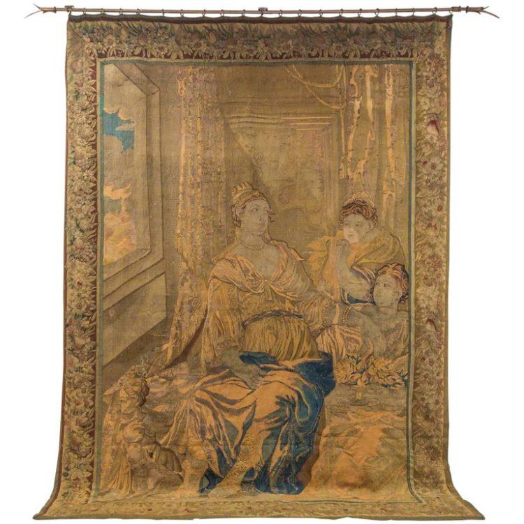 18c Handwoven Flemish Tapestry
