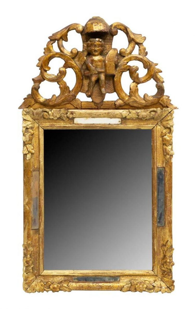 19c Italian Gilt Mirror