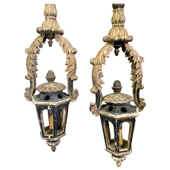 Pair of 18 Century Italian Lanterns