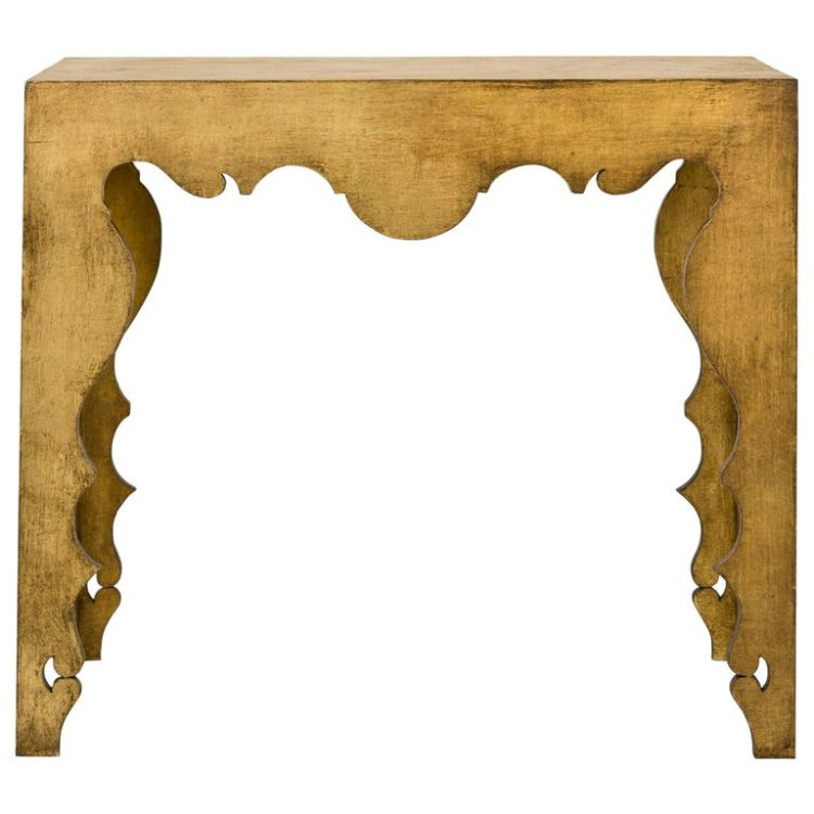 Rococo Console Table in Gold Leaf - Custom Furniture - New Orleans