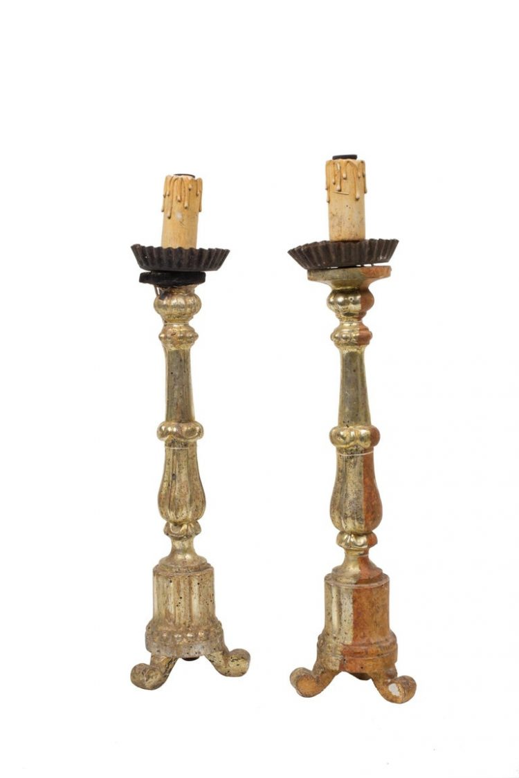 Series 4 - Pair of Candlesticks - Antique - Table Decor