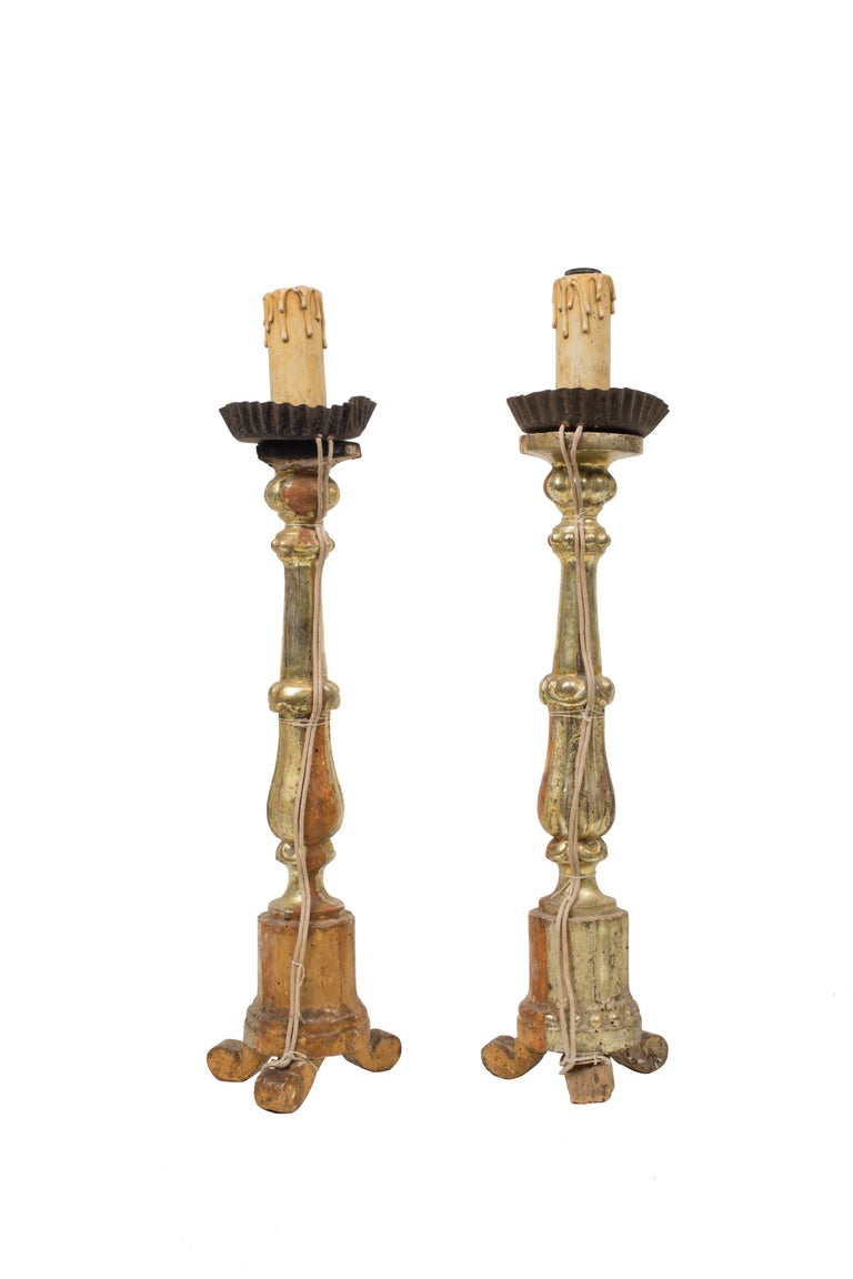 Series 3 -Pair of Candlesticks - Antique - Table Decor